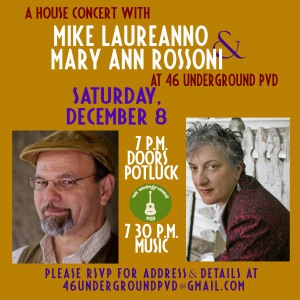 flyer for Mike Laureanno and Mary Ann Rossoni