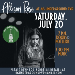 flyer for Allison Rose show
